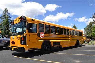 Eugene now has six of the yellow charter buses, which each average about 19,000 miles per year as they transport students for athletic events, reward trips, and educational excursions.