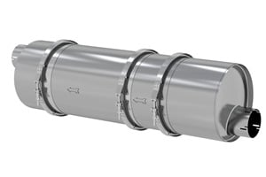 The LNF muffler from Donaldson Co. reduces particulate matter emissions by more than 90%.