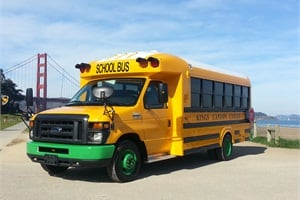 Electric buses are also becoming options, with Trans Tech's SSTe all-electric school bus in demonstration in California.