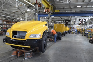 At Blue Bird's main facility in Fort Valley, Ga., workers assemble Type C and D school bus bodies and chassis.