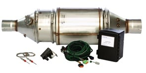 Cleaire Advanced Emission Controls' Long-Mile diesel particulate filter can reduceparticulate matter by more than 85 percent. Itslow exhaust temperature requirement makesit compatible with lighter duty cycles.