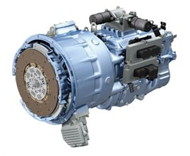 Pictured is the Hybrid Drive Unit forEaton's hybrid system. It comprises the transmission and the motor/generator. The system can reduce emissions by more than 30 percent.