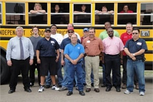 The transportation department at Houston ISD has gone green in a number of ways, from adopting alternative fuels to reducing idling to increasing efficiency.