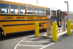 Lower Merion School District in Ardmore, Pa., operates 58 buses on CNG. Transportation Supervisor Jerry Rineer says that four of his technicians are also tank inspectors. The vehicles' fuel tanks are required to be inspected every three years or 36,000 miles, or if the bus is involved in a major accident