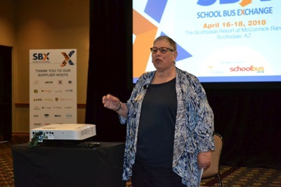 Linda Bluth of the Maryland State Department of Education gave a keynote presentation on school reform and led a session on student behavior.