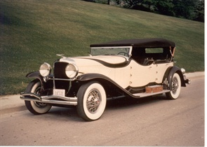 In the early 20th century, Wolfington manufactured bodies for motorized car chassis. Pictured is a 1929 Duesenberg Model J-214 Phaeton Royale that was built by Wolfington.