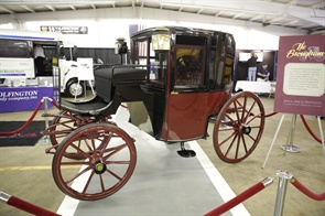 The company eventually became a bus distributor, but it still uses the Wolfington Brougham as its symbol. The luxury carriage was drawn by a single horse and driven by a coachman.