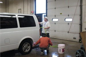 Brainerd (Minn.) Public Schools' Paul Bunyan Transition Plus Program teaches special-needs students ages 18 to 21 independent living and job skills. The bus shop plays an integral role by having them detail the district's vehicles.