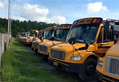 "Fullington School Bus offers bonuses to help with driver retention. ""It's tough, because bus drivers are one of the unsung heroes and most underpaid people in the world,"" Arlen Sanden says."