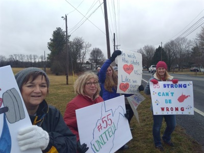 West Virginia teachers went on strike earlier this year. Photo by Eric Bourgeois via Wikimedia Commons