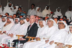 The conference was developed in a partnership between the Roads and Transport Authority in Dubai and the National Association for Pupil Transportation (NAPT) in the U.S. At center is NAPT Executive Director Mike Martin.
