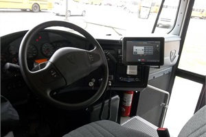Quantum XXI Inc. has developed GOLDbus, a computer tablet technology for school buses. GPS/AVL is built into the tablet and includes features such as real-time and historical data, including bus locations, speed, and departure and arrival times.