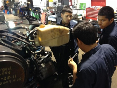 An internship program could be an effective way to prepare students — as well as school transportation operations — for the future. Shown here are students who worked in a co-op program.