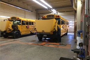 Removing clutter in school bus work bays can help in boosting efficiency and the safety of staff members.