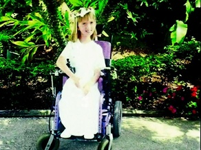 Katie, who has spinal muscular atrophy, received her first motorized wheelchair at the age of 2.
