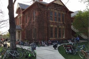 Boulder Valley School District's Transportation Options program promotes bike to school days, as seen here.