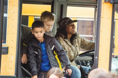 Fairfax County (Va.) Public Schools examines student population changes and communities that are experiencing growth or road structure changes to determine bus stop locations and whether routes meet bus capacity. Photo courtesy Fairfax County Public Schools