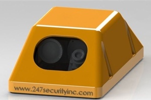 A rendering of 247Security's newest exterior camera, which will capture high-quality images and video of stop-arm runners.