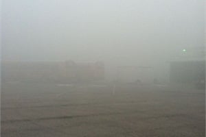 In January, super-fog rolled in over Volusia County Schools' bus compound in DeLand, Fla.,  for two days, creating zero visibility for employees.  They reportedly could not even see their hands in front of their faces.
