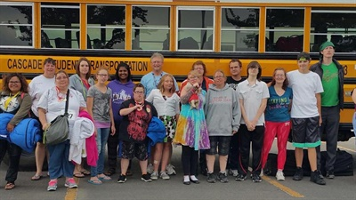 Employees at Cascade Student Transportation volunteered to transport Special Olympics athletes in the recent State Summer Games in Idaho.