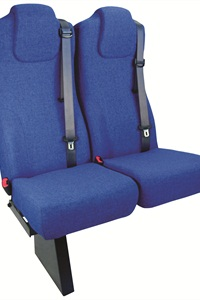 Freedman Seating Co.'s Family-3PTA seating solution is equipped with integrated, adjustable three-point seat belts.