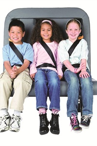 The SafeGuard XChange FlexSeat has a flexible capacity, enabling belted seating for one, two or three students.