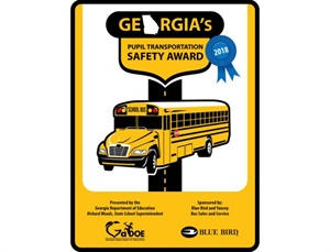Georgia's Pupil Transportation Safety Award winners received a metal sign that can be displayed at their facilities.