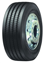 Double Coin's RT 500 all-position tire is equipped with sidewall protectors on both sides so the tire can be turned around to provide equal protection.