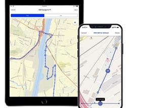 Route Building Navigation App Management School Bus Fleet