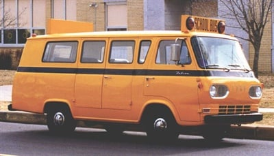 Collins Bus turns 50 this year. Seen here is the company's first Type A bus, developed by Don Collins in 1967.