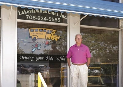 School Bus Fleet's Contractor of the Year Michael Wagner emphasizes creating a supportive work environment. That could be why Lakeview Bus Lines boasts a nearly 90% driver retention rate. Photo courtesy Jamie Case