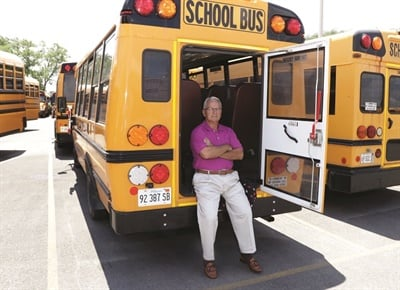 In 2007, when Wagner joined Lakeview Bus Lines, there were 40 school buses in the fleet. The Illinois-based contractor's fleet now includes more than 250 buses. Photo courtesy Jamie Case