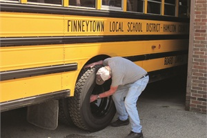 Personnel from Finneytown Local School District also checked buses and prepared for state inspection.
