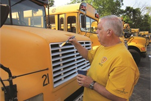 Transportation personnel from Winton Woods City School District checked buses over the summer and prepared for state inspection.