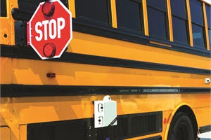 CrossingGuard is strategically placed on the exterior of a school bus to detect and capture stop-arm violations that occur while the school bus stop arm is extended. Installation is free for school districts and 100% violator funded.
