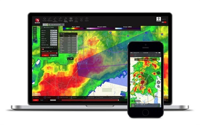 Baron's Threat Net allows users to monitor weather and safety for situational awareness by location.