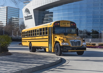 Electronic stability control andbackup cameras will be standard on all newBlue Bird school buses built in 2019. File photo