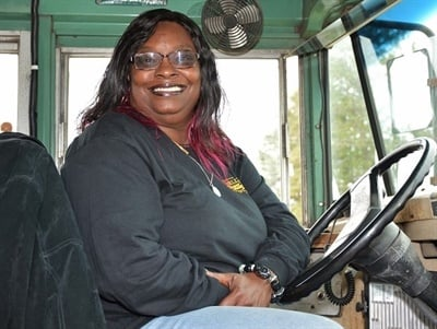 Bus driver Bernadine Reed resumed her normal routes on a replacement bus after rescuing students from another bus that was involved in a crash and before it caught fire. Photo courtesy Darlington County (S.C.) School District