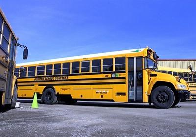 Durham School Services' location in Spokane, Washington, teamed up with Spokane Public Schools tounveil 54 new propane-powered school buses. Photo courtesy Spokane Public Schools