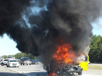 A federal study found that school bus fires in the U.S. occur slightly more than daily. File photo courtesy NYPD