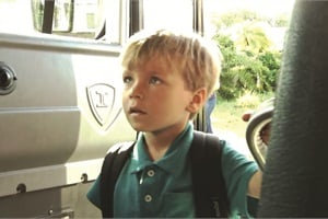 Myke Obstaculo of Pinellas County (Fla.) Schools' transportation department teaches his son Joey how to safely board and ride the bus in this video, which can be viewed at schoolbusfleet.com/web14j.
