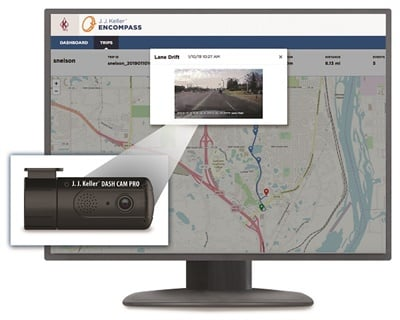 The Encompass Video Event Management solution and Dash Cam Pro from J.J. Keller and Associates Inc. are designed to identify problematic driver behavior and provide proactive driver coaching and training.