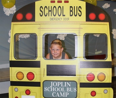Joplin (Mo.) Schools held its inaugural School Bus Camp on Saturday to highlight the importance of school bus safety for students and parents. Photo courtesy Justin Crawford