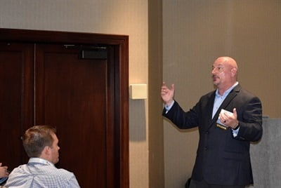 Shawn Smith, the transportation director for Aurora (Co.) Public Schools, shared with attendees his transportation department's challenges and successes with driver retention.