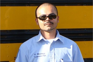 Bus driver Ricardo Martinez acted on instinct when he brought a lost infant to safety while tending to his special-needs passengers.