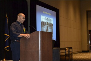 Hart discussed school bus crash investigations at the 2013 NAPT Summit in Grand Rapids, Michigan.