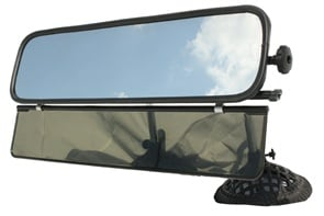 Tony Pietrowski of Tiger Mirror Corp. says a bus' interior rearviewmirror should be mounted in front of the driver. The company's Mirror and Sun Visor Combo Unit is easy to adjust, according to Pietrowski.
