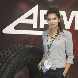 The ADH is one of three new premium truck tires from Armstrong Tire Inc. Mariam Zafar is marketing director.