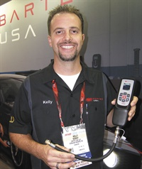 Bartec's Kelly Nugent says the new Tech200Pro comes with a wall-mounted inductive charger, quick connect air fitting, and operates without the need for other devices.