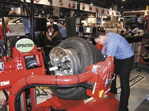 Don Glaser says Hunter's TCX625 Plus heavy-duty tire changer eliminates the mounting and dismounting of heavy-duty tires with hammers and pry bars.